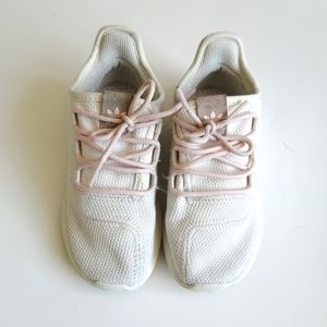 Adidas Beige and Pink Sneakers - size 10
